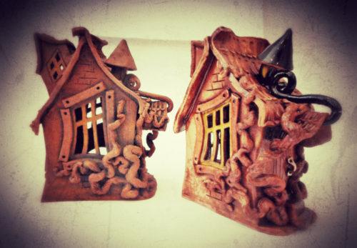 Домик из керамики (обожженная глина с глазурью) , аромалампа, авторская работа