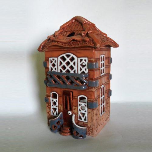 Домик из глины - керамика, глазурь, авторская работа хенд мейд
