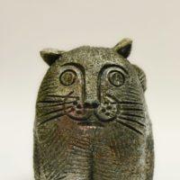 Кот - керамика авторская работа - материалы: глина, шамот, глазури, оксид меди
