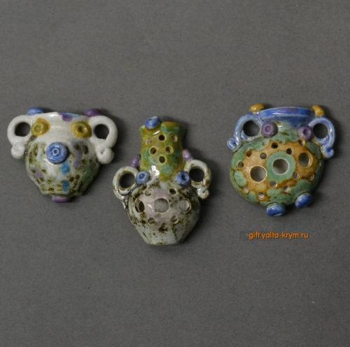 Кулоны керамика глазурь. Авторские работы. Ялта хенд мейд