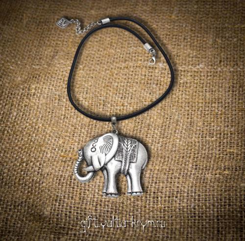 Екпить колье в Ялте - Веселый слоник - бижутерия в Ялте